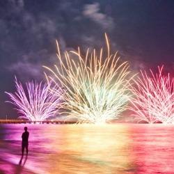 notte-rosa fuochi al  mare